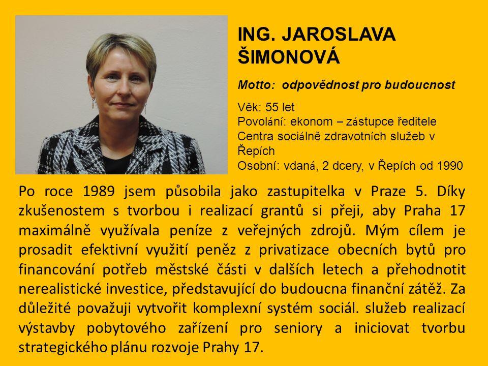 ING. JAROSLAVA ŠIMONOVÁ