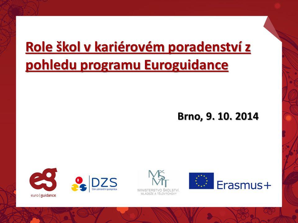Role škol v kariérovém poradenství z pohledu programu Euroguidance