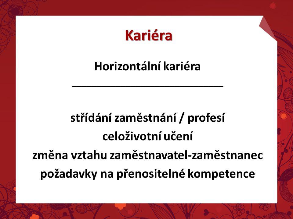 Kariéra Horizontální kariéra střídání zaměstnání / profesí