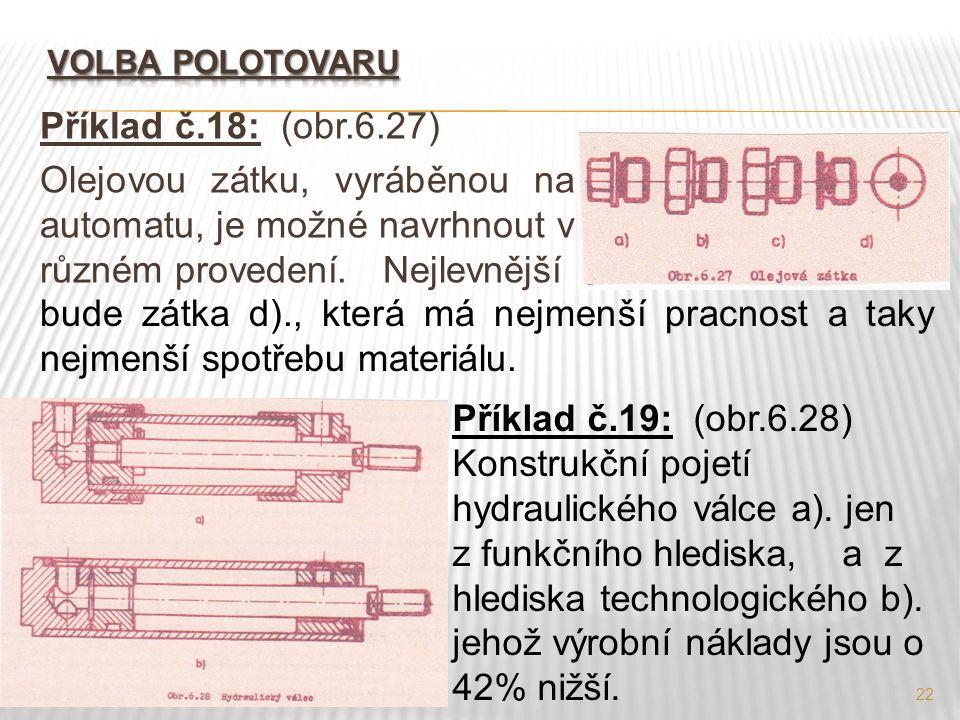 Konstrukční pojetí hydraulického válce a). jen