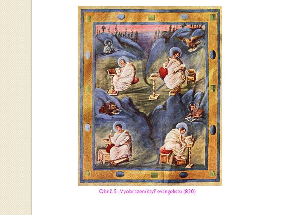 Obr.č. 5 -Vyobrazení čtyř evangelistů (820)