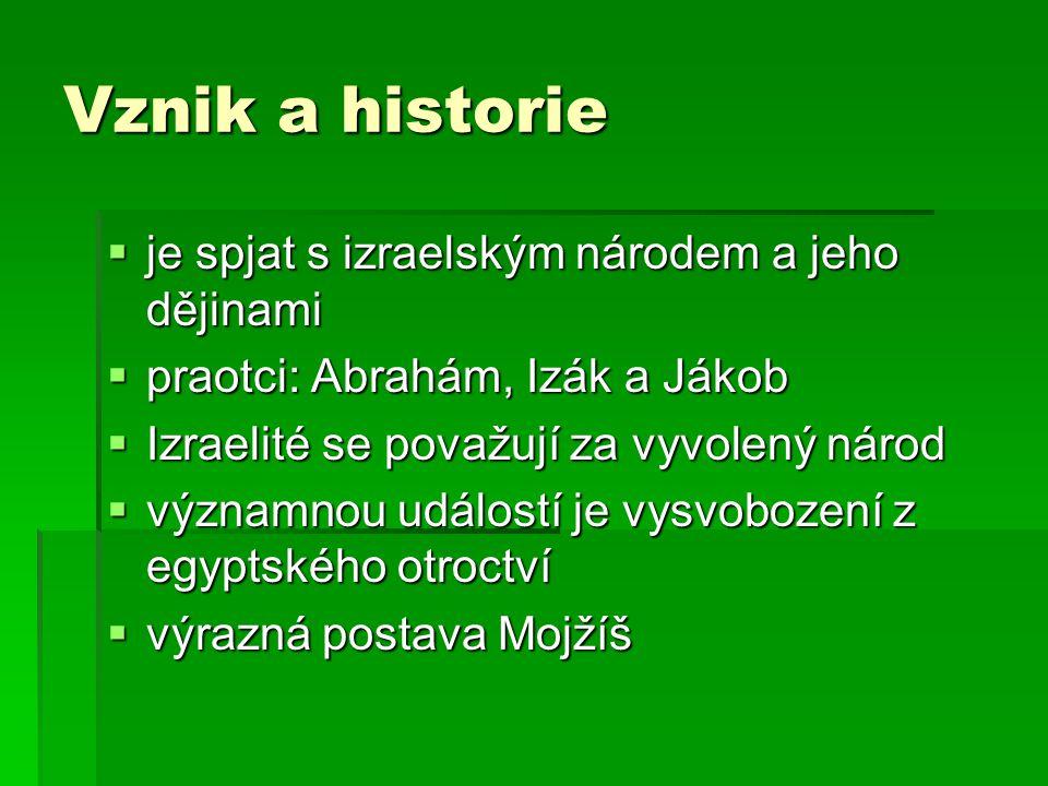 Vznik a historie je spjat s izraelským národem a jeho dějinami