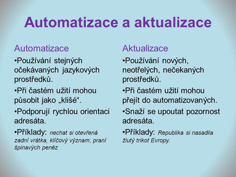 Automatizace a aktualizace