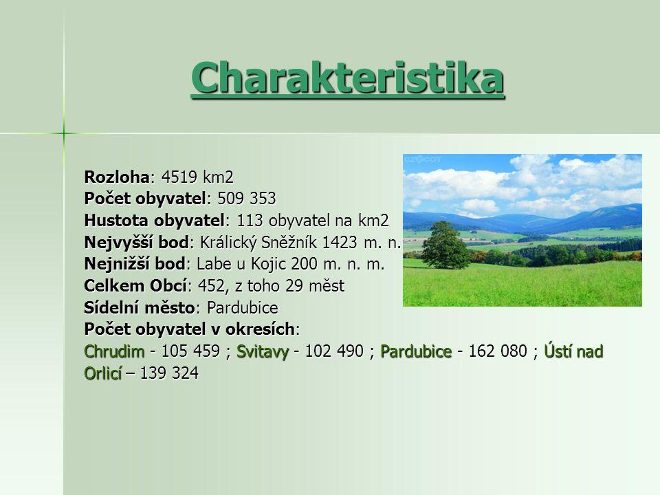 Charakteristika Rozloha: 4519 km2 Počet obyvatel: 509 353
