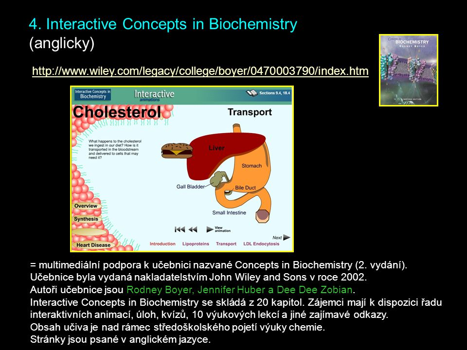 4. Interactive Concepts in Biochemistry (anglicky)