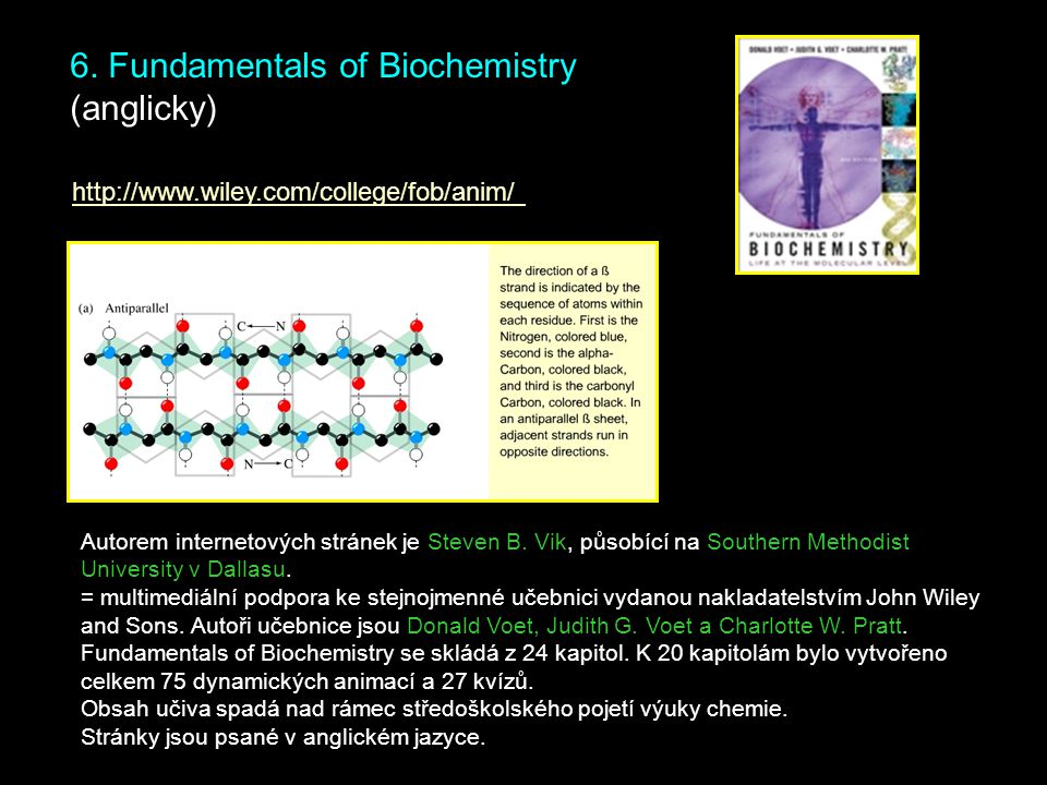 6. Fundamentals of Biochemistry (anglicky)