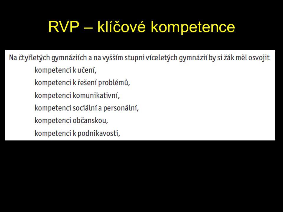 RVP – klíčové kompetence