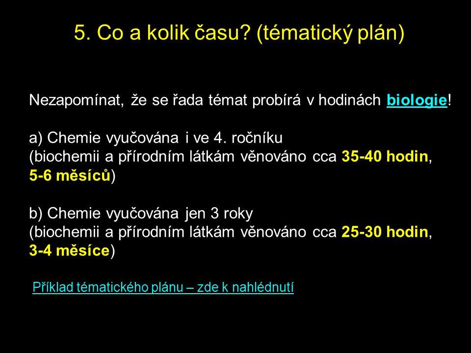 5. Co a kolik času (tématický plán)