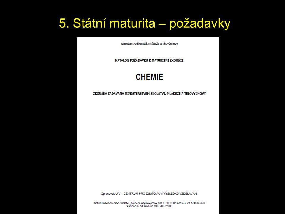 5. Státní maturita – požadavky