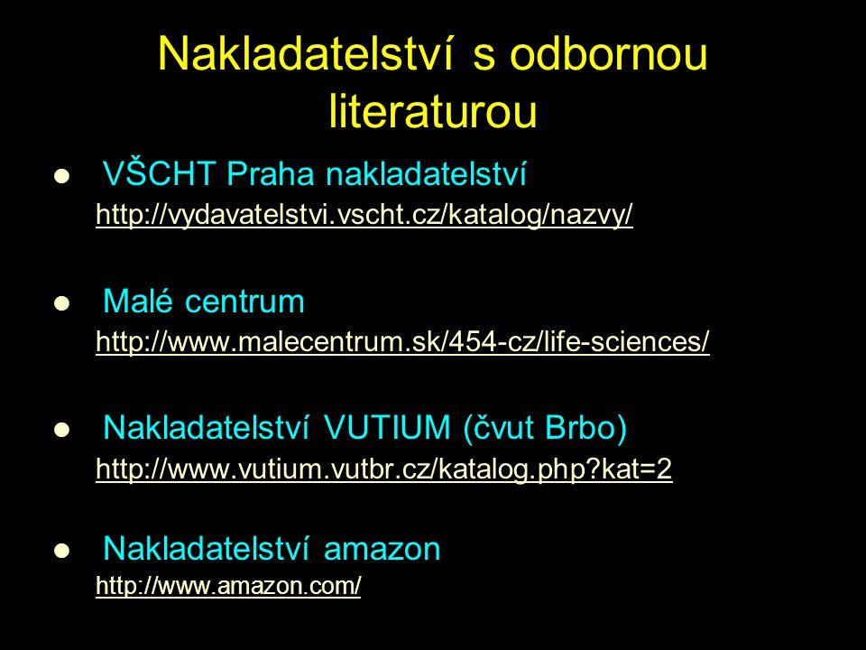 Nakladatelství s odbornou literaturou