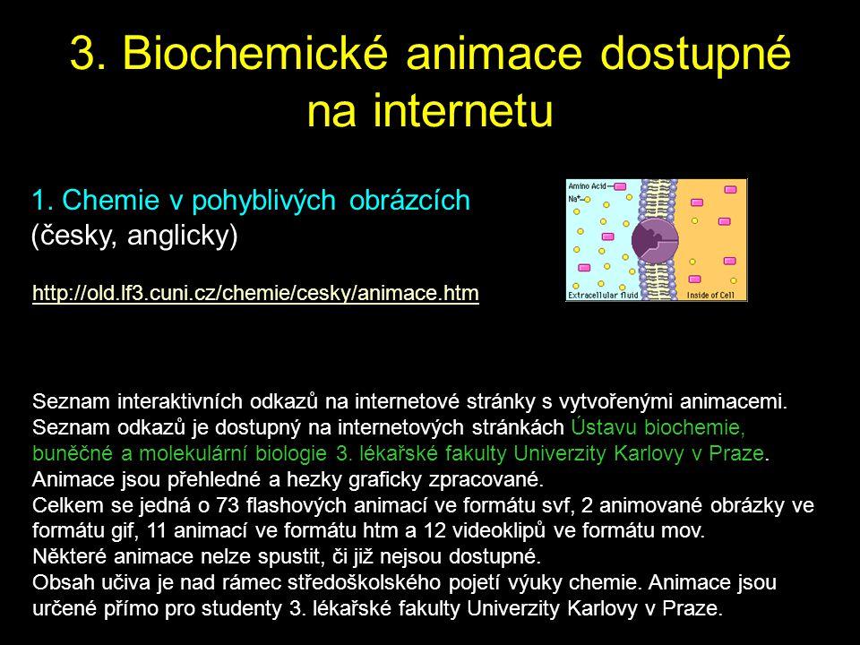 3. Biochemické animace dostupné na internetu