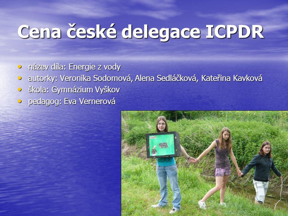 Cena české delegace ICPDR