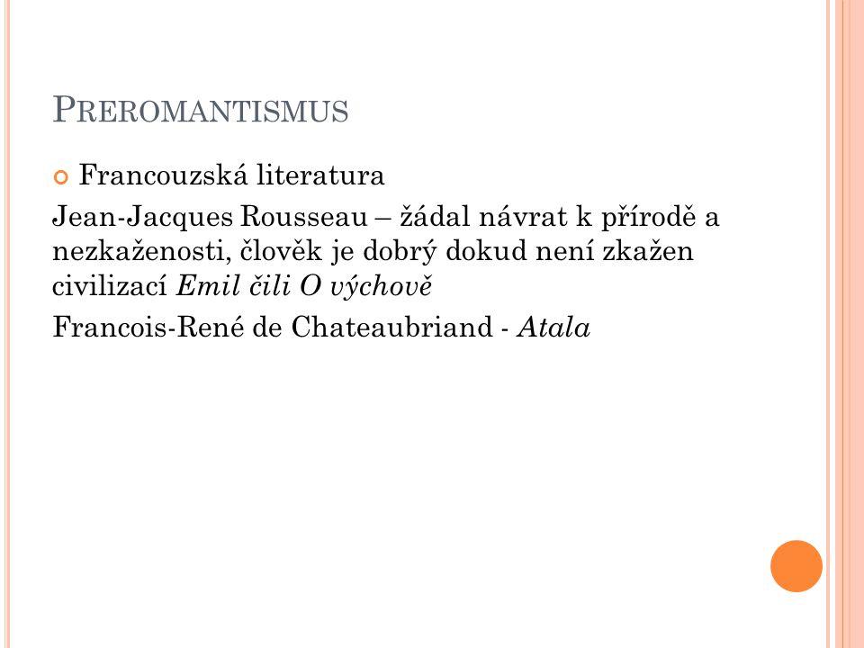 Preromantismus Francouzská literatura