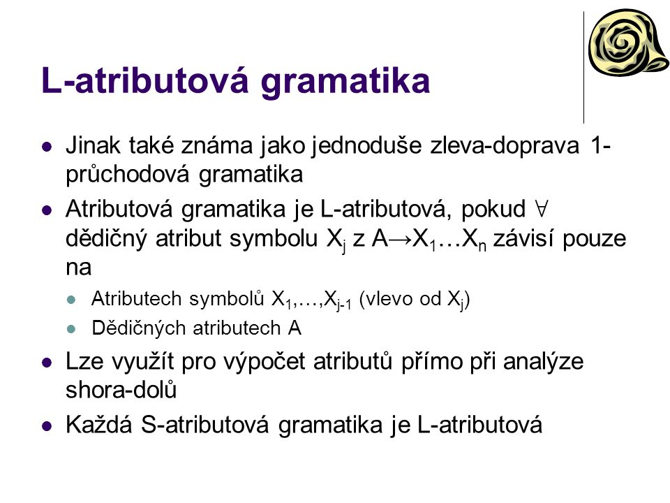 L-atributová gramatika