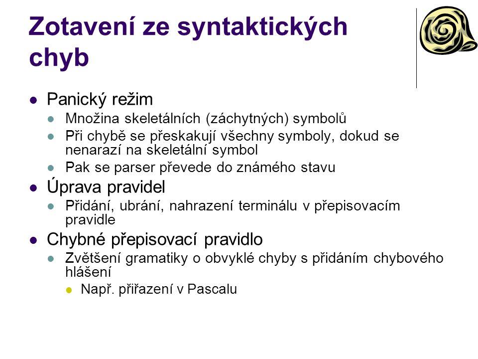 Zotavení ze syntaktických chyb