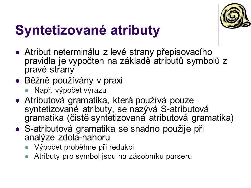 Syntetizované atributy