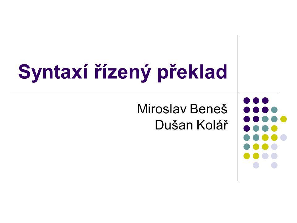 Syntaxí řízený překlad