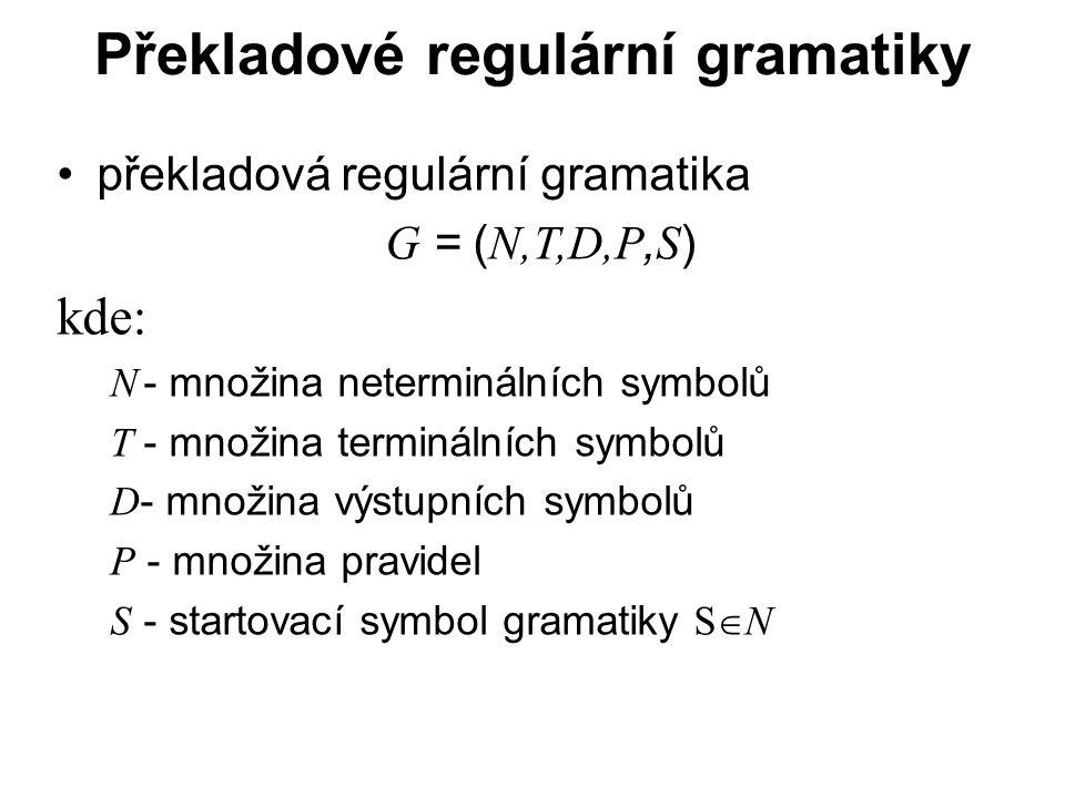 Překladové regulární gramatiky