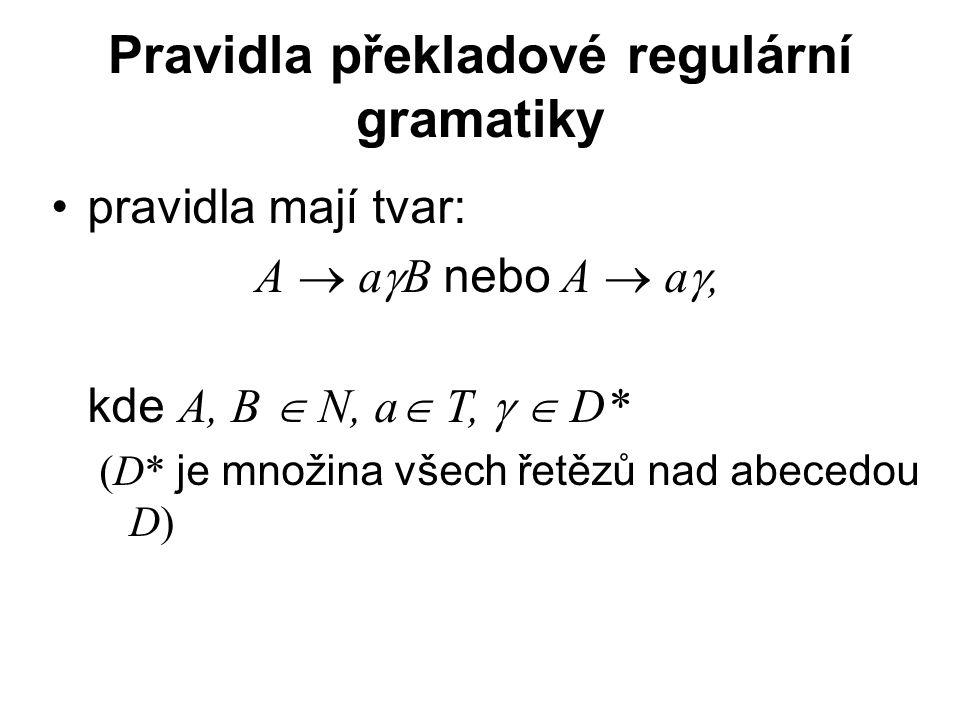 Pravidla překladové regulární gramatiky