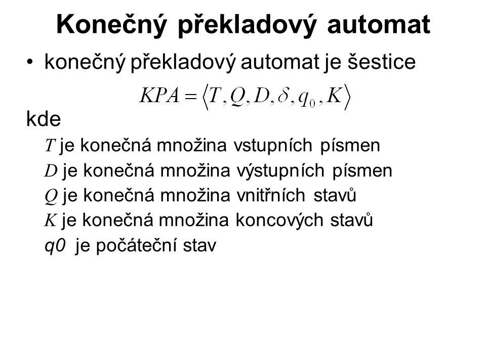 Konečný překladový automat