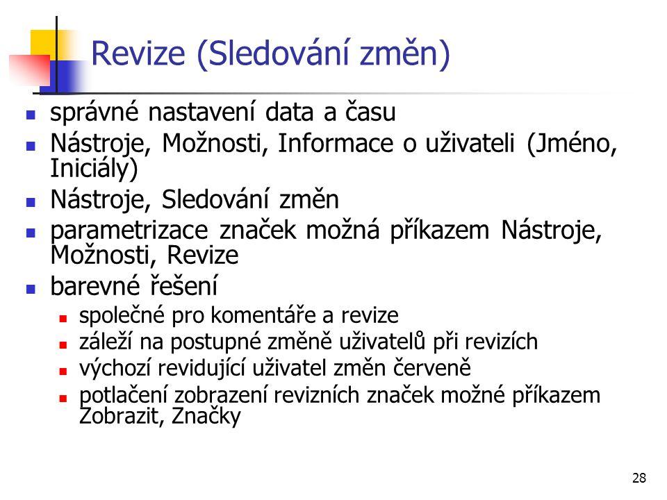 Revize (Sledování změn)