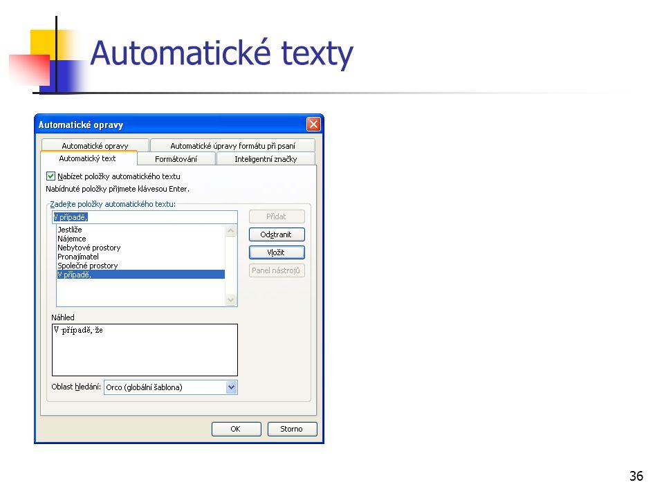 Automatické texty
