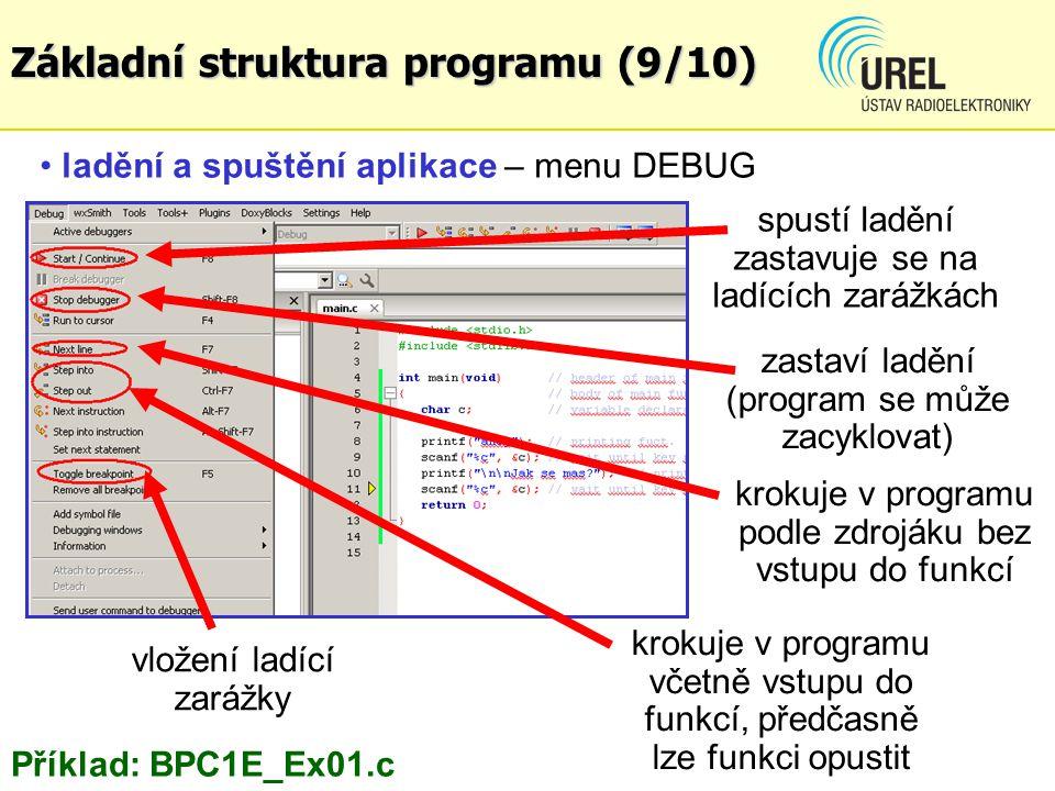 Základní struktura programu (9/10)