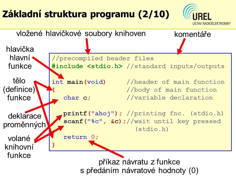 Základní struktura programu (2/10)