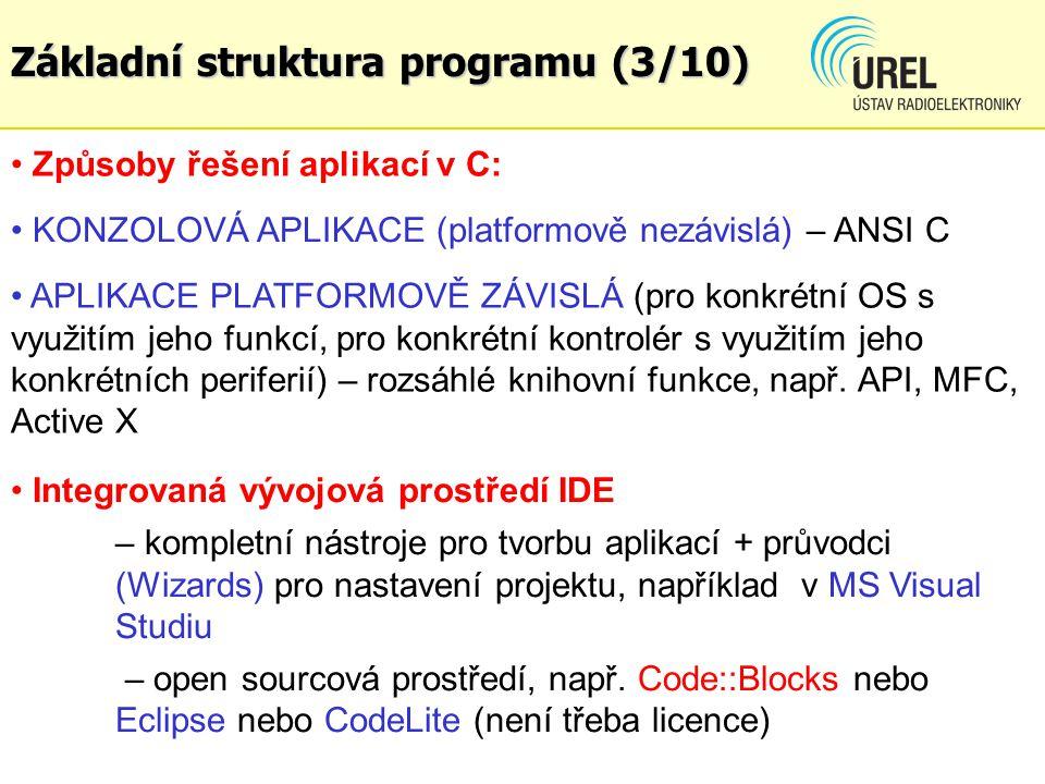 Základní struktura programu (3/10)