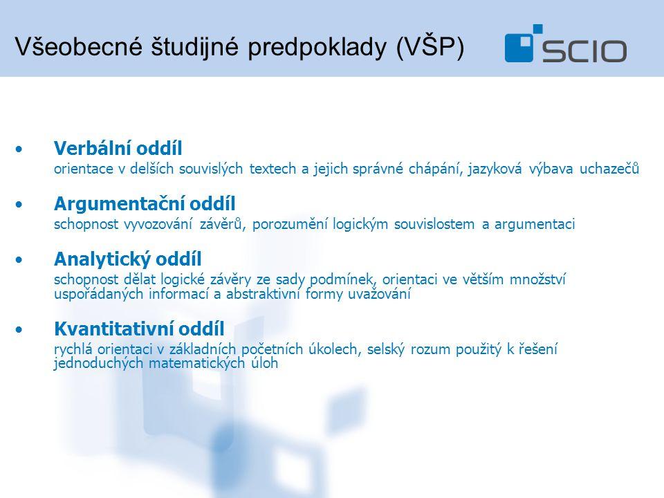 Všeobecné študijné predpoklady (VŠP)