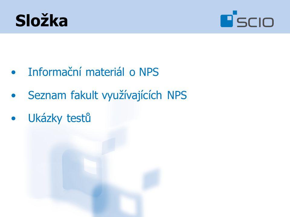 Složka Informační materiál o NPS Seznam fakult využívajících NPS