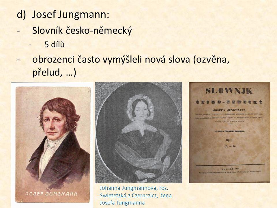 Josef Jungmann: Slovník česko-německý