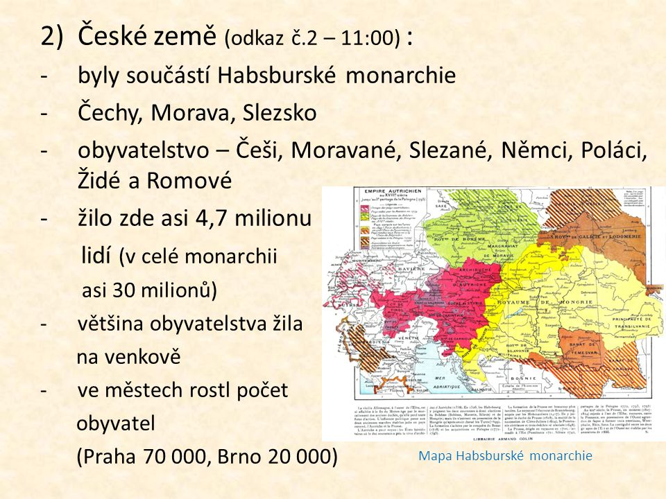 České země (odkaz č.2 – 11:00) :