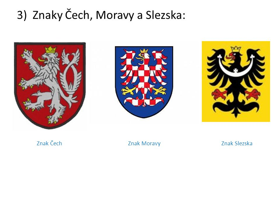 Znaky Čech, Moravy a Slezska:
