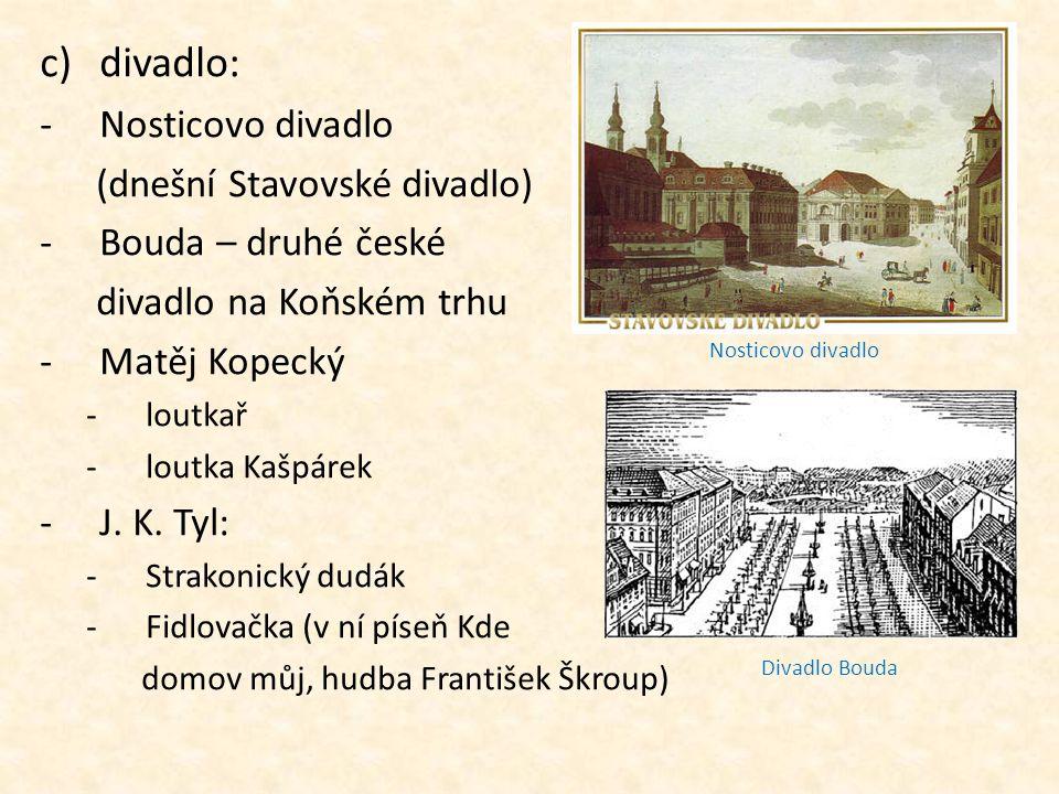 divadlo: Nosticovo divadlo (dnešní Stavovské divadlo)