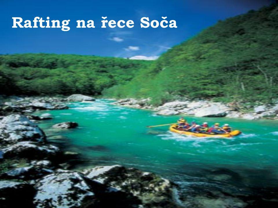 Rafting na řece Soča