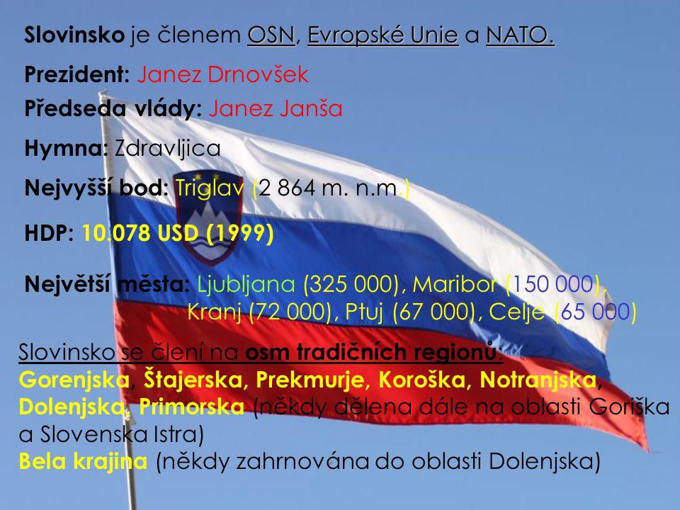 Slovinsko je členem OSN, Evropské Unie a NATO.
