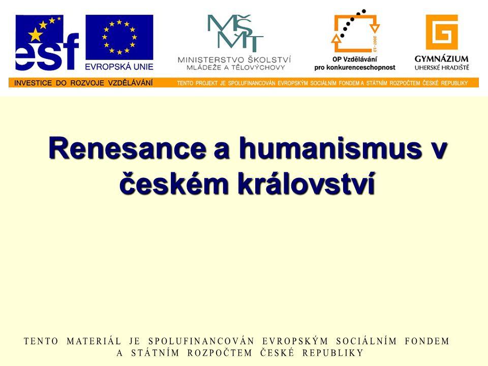 Renesance a humanismus v českém království
