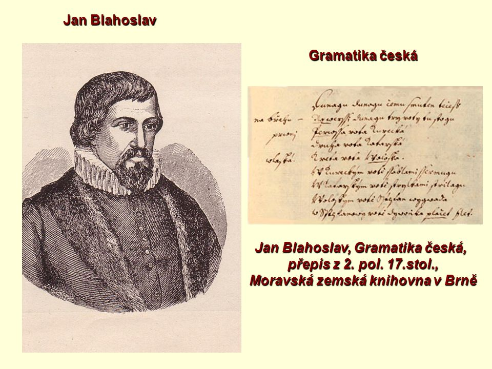 Jan Blahoslav, Gramatika česká,