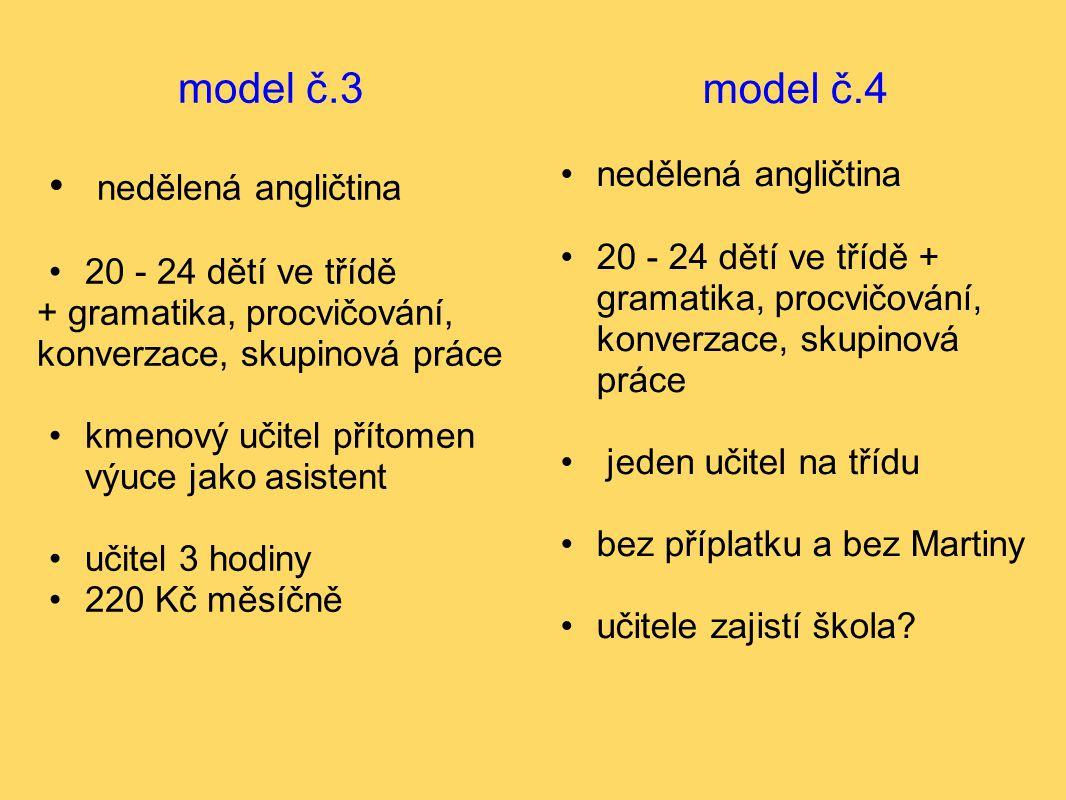 model č.3 nedělená angličtina model č.4 nedělená angličtina