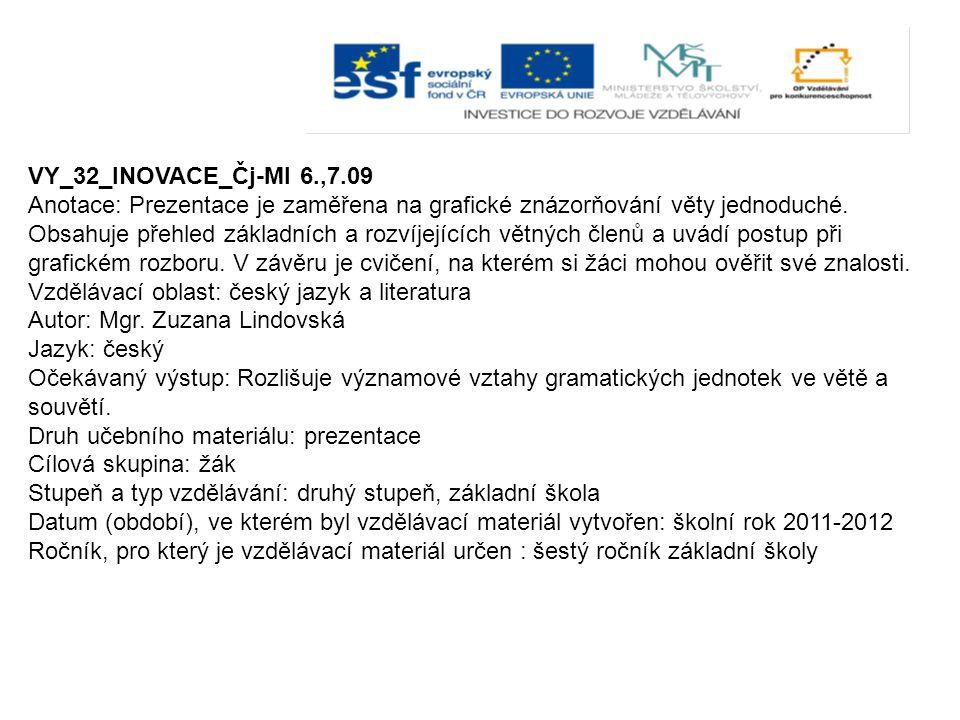 VY_32_INOVACE_Čj-Ml 6.,7.09