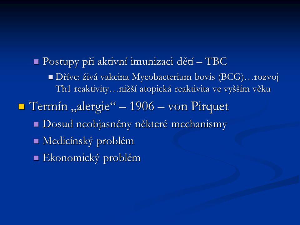 """Termín """"alergie – 1906 – von Pirquet"""