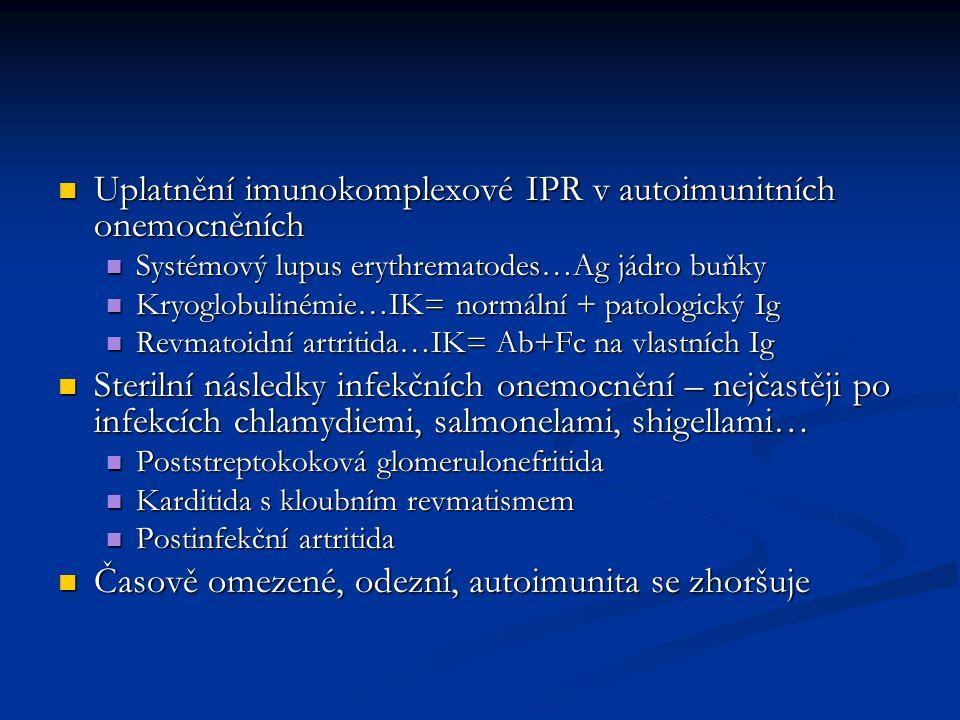 Uplatnění imunokomplexové IPR v autoimunitních onemocněních