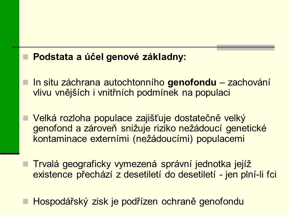 Podstata a účel genové základny: