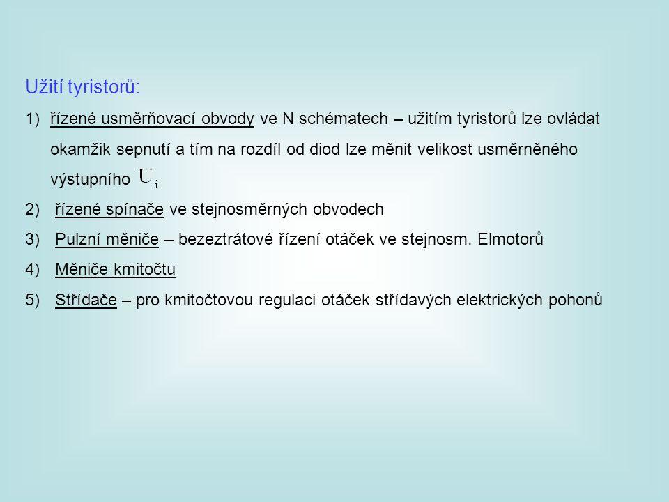 Užití tyristorů: