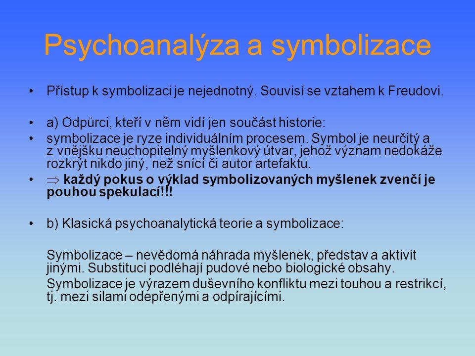 Psychoanalýza a symbolizace