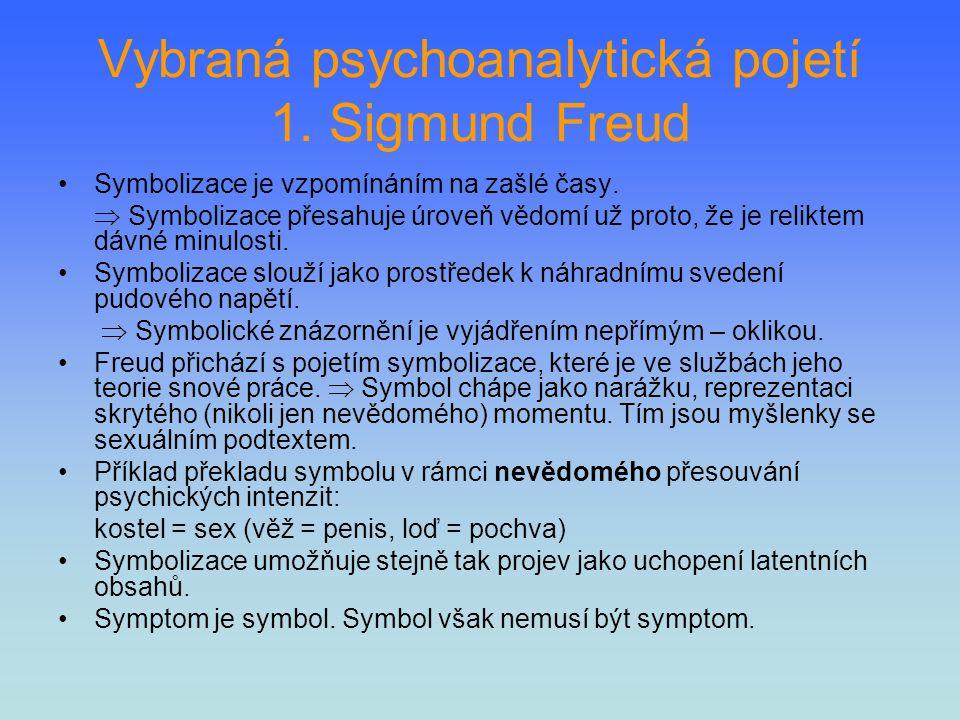 Vybraná psychoanalytická pojetí 1. Sigmund Freud