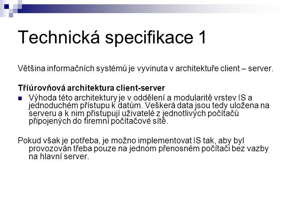 Technická specifikace 1