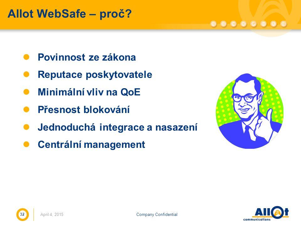 Allot WebSafe – proč Povinnost ze zákona Reputace poskytovatele