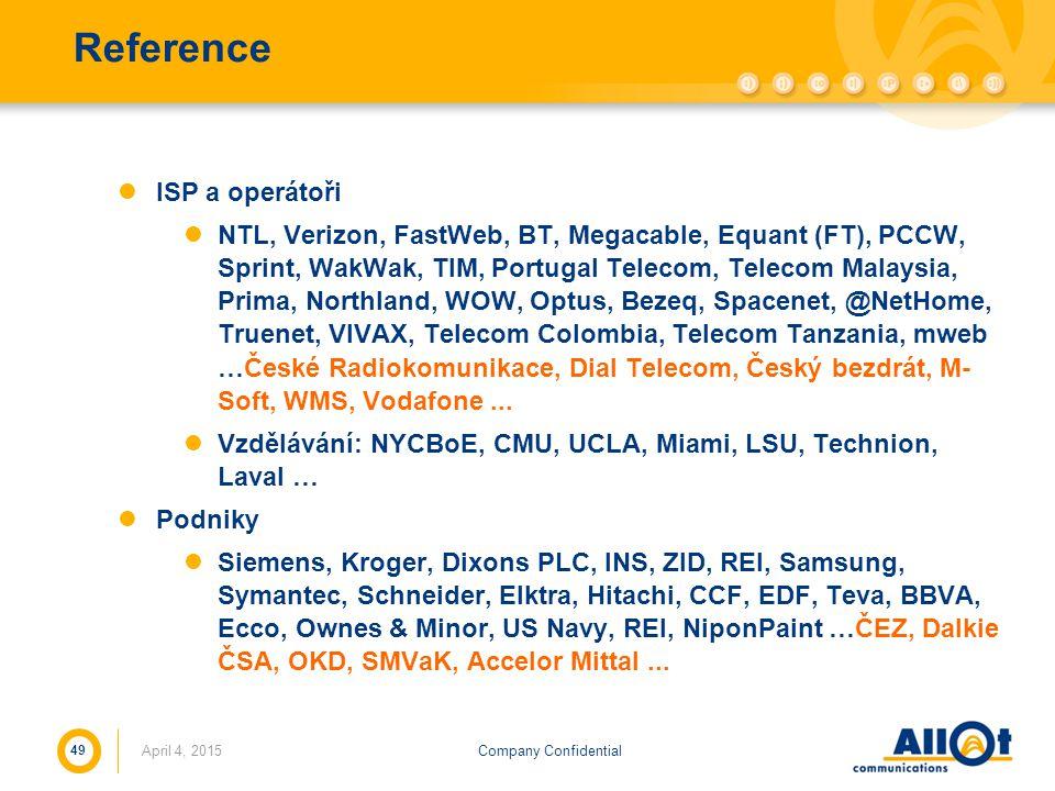 Reference ISP a operátoři